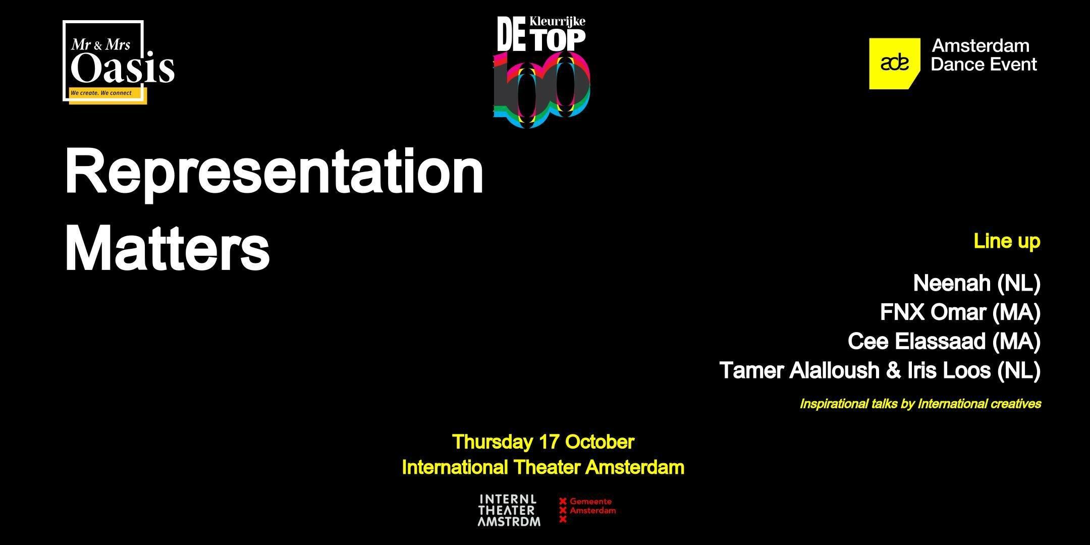 ADE x Kleurrijke Salon: Representation Matters