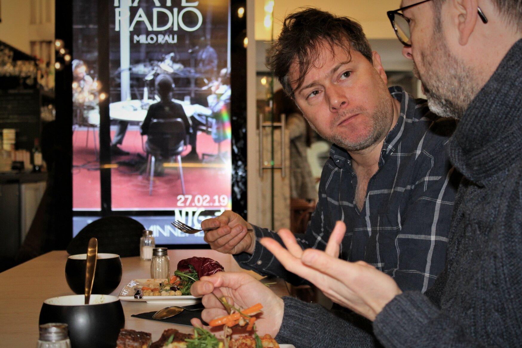Lunchen met Milo Rau